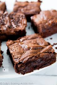 chewy fudgy homemade brownies sally s