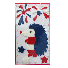 Holiday Living Gel Indoor Window Cling Hedgehog 4th Of July Decor In The Indoor Fourth Of July Decorations Department At Lowes Com