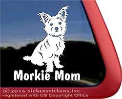 Amazon Com Nickerstickers Morkie Mom Maltese Yorkie Mixed Breed Vinyl Dog Window Decal Erect Ears Automotive