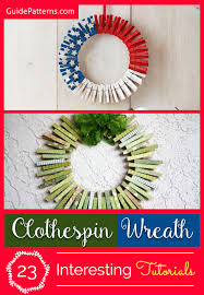 clothespin wreath 23 interesting