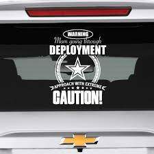 Army Mom Approach With Caution Decal Motherproud