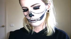 half skull makeup tutorial easy last