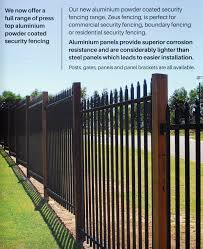 Spear Top Black Heavy Duty Security Steel Fencing Fence Panels Superio Glass House Au
