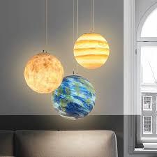 Led Planet Hanging Lamp Kids Room Bedroom Nursery Children Room Led Moon Globe Light Fixtures Indoor House Lustre Suspension Pendant Lights Aliexpress