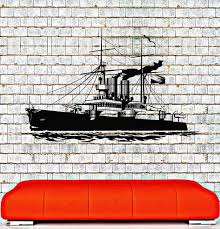Vinyl Wall Decal Ship Navy War Military Boys Room Naval Decor Stickers Wallstickers4you