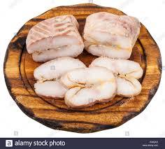 slices of hot smoked sturgeon ...