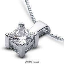 14k white gold classic style solitaire