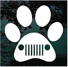 Jeep Paw Print Window Decals Car Stickers Decal Junky