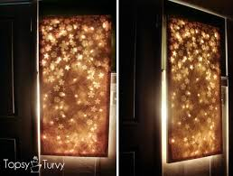create a lit up canvas wall decor