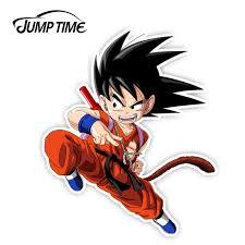 Jumptime 13cm X10 8cm Dragon Ball Kid Goku Funny Sticker Car Window Decal Car Sticker Rear Windshield Waterproof Car Accessories Car Stickers Aliexpress