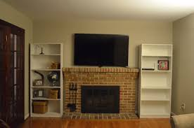 what type of bookshelves beside fireplace