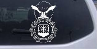 Department Of The Air Force Security Forces With Eagle Car Or Truck Window Decal Sticker Rad Dezigns