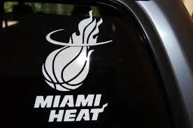 Miami Heat Car Automobile Window Decal 7 Buy Online In El Salvador At Desertcart