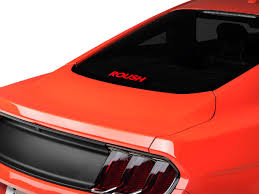 Roush Mustang Rear Window Decal Red 404339 79 20 All