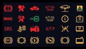 car warning light symbols and
