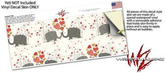 Yeti Rambler Colster And Rtic Can Cooler Skin Wraps Elephant Love Uskins