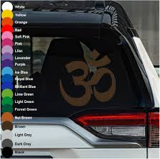 Om Symbol Car Decal Crazy4decals