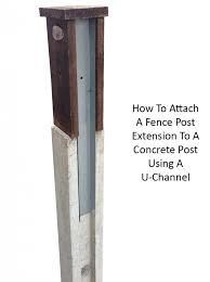 2ft Intermediate Fence Post Extension Dipped Brown Fence Post Fence Design Concrete Posts