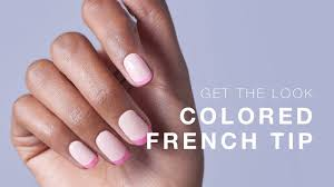 colored french tip tutorial using