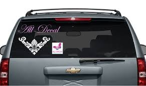 Flower Decal For Cars Decorative Calligraphic Decal Car Etsy