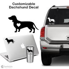 Personalized Dachshund Decal Top Pet Gifts