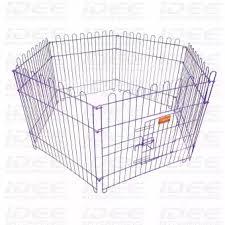 Idee Enterprises Pet Crates Fen 6d A2 6 Panels Foldable Pet Fence Playpen Purple Lazada Ph