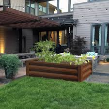Greenes Fence 24 In W X 48 In L X 10 In H Timber Brown Pre Galvanized Powder Coated Steel Raised Garden Bed Planter Rcm10tb The Home Depot In 2020 Garden Beds Raised