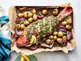 Whole Roasted Red Snapper with Potatoes ...