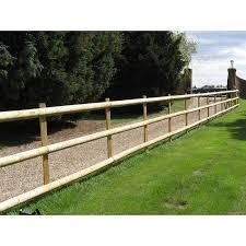 1 8m X 100mm Diameter Treated Wood Machine Cut Half Round Rail Fencing Pack Of 10 Ebms 1 8mhalfrailsx10