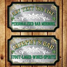 personalised vintage style irish pub mirror