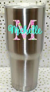 Lily P Inspired Custom Yeti Cup Decal Rtic Cup By Theglitteryhippo Decals For Yeti Cups Cup Decal Yeti Cup Designs