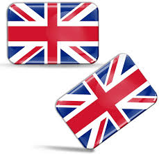 Amazon Com 2 X 3d Domed Silicone Stickers Decals Uk United Kingdom Union Jack National Great Britain Flag Car Motorcycle Helmet F 32 Arts Crafts Sewing