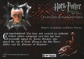 Harry Potter and the Prisoner of Azkaban Update Jimmy Gardner ...