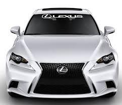 Lexus Windshield Banner Decal Sticker W Logo Custom Sticker Shop