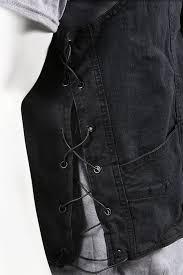 mens conceal carry black denim vest