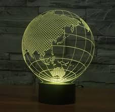 Luxury World Map Shape Touch New Night Lights Globe Map Shape Acrylic 3d Illusion Lamp Children Kids Bedroom Decoration Led Night Lamp World Map Shape Touch New Night Lights Globe Map Shape Acrylic