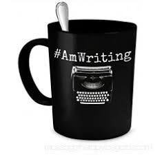 writer mug amwriting funny quote author gift coffee mug