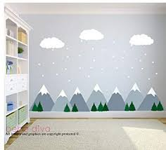 Design Point Furniture Mountain Scene Wall Decals Wall Decals Nursery Kids In Decors