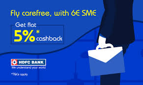 6e sme hdfc bank flight offers