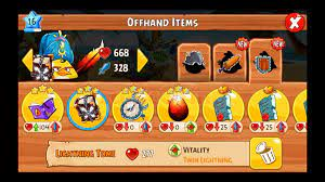 List of All Angry Birds Epic Set Item : Weapons + Offhand Items Set Bonus  Stats - video dailymotion