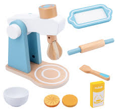 pretend play wooden cake mixer play