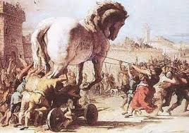 حصان طروادة هو ذاك الحصان الخشبي الذي... - قصص من التاريخ الاسلامي ...