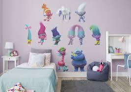 Trolls Movie Collection Fathead Wall Decal Big Kids Room Removable Wall Decals Wall Decals