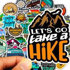 50pcs Hike Camping Travel Bicycle Mountain Car Sticker Decal Explore Adventure Ebay