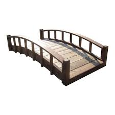 6 ft japanese wood garden moon bridge