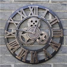 large wall clock handmade vintage