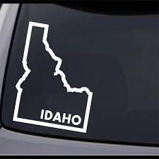 3 Pack Idaho State Map Id Home Permanent Vinyl Decal Laptop Window Car Sticker Ebay