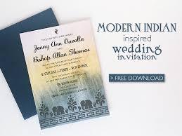 diy modern indian wedding invitation