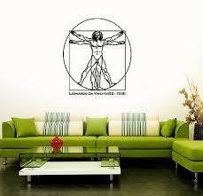 Wall Sticker Vinyl Decal Leonardo Da Vinci Anatomy Famous Artist Ig1170 753677077195 Ebay