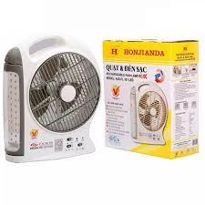 Quạt sạc và đèn 8 inch 2in1 cao cấp Honjianda HJD-FL 101 LED ( hàng Việt  Nam chất lượng cao )